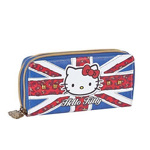 Hello Kitty 45936 Clutch Doppel Geldbörse, Blue