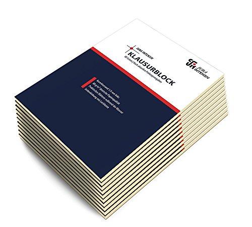 10er Pack Klausurblöcke, A4, liniert, weißer Korrekturrand links, 80 Blatt, 80 g/m² Papier