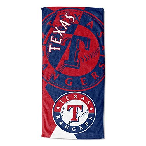 MLB Texas Rangers 'Puzzle' Toalla de playa, 34' x 72'