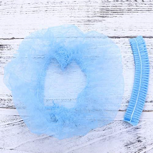 SUPVOX 100 stücke Einweg Haarnetz Cap für Medical Service Lebensmittel Backen Make-Up Blau