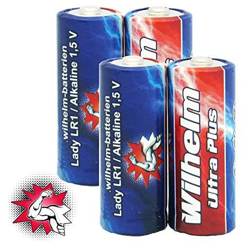 4 x WILHELM Lady N LR1 MN9100 4001 910A 1,5V Batterien