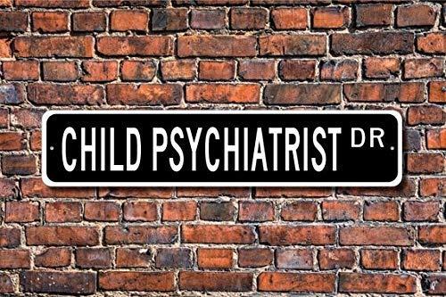BCTS Psiquiatra Infantil Psiquiatra Regalo Niño Psiquiatra Señal Psiquiatra Decoración para Niños Psiquiatra Señal de Calle al Aire Libre 10 x 40 cm
