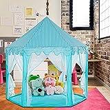 ZLHW Pongee Princess Castle, tienda de campaña para acampar, senderismo, tienda de juegos para niños, tienda de juegos para niños grande al aire libre, castillo de ensueño para niñas hexagonal, castil
