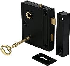 A29 2 3/8 Inch Backset Rim Lock, Black Powder Coat Finish
