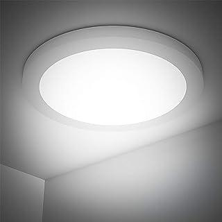 18W Plafón LED Super Brillante 1440LM 4000k Equivalente a 130W Lámpara Incandescente Lámpara LED de Techo Luz de Naturaleza Blanco Ideal para Sala de Estar, Cocina, Balcón, Baño (Redondo)
