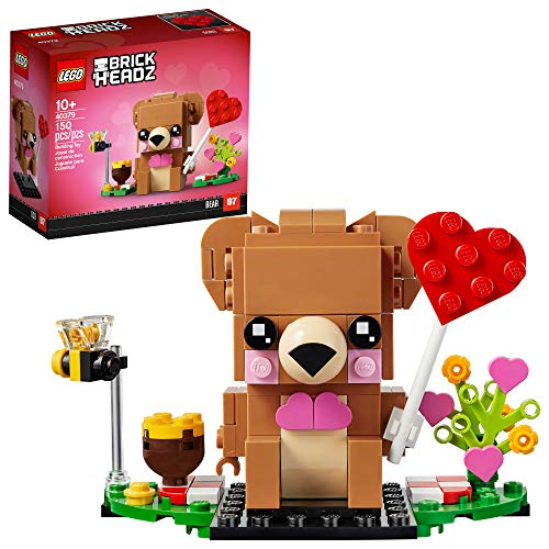 LEGO BrickHeadz Valentine's Bear 40379 Building Kit, New 2021 (150 Pieces)