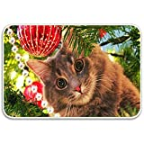 WHEYT Tapis de Souris drôle en Caoutchouc Tapis de Bain drôle Tapis de Porte de Bienvenue 40 X 60 cm Cats Love Christmas Trees