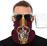 Ha-Rry Po-Tter - Bandanas para el cuello, pasamontañas, polaina para la cara, con 6 filtros, antipolvo, para deportes al aire libre