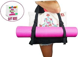 LUCKAYA Large Yoga Mat Tote Bag with Adjustable Straps.Gift Box.
