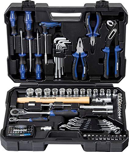 Projahn Universal Werkzeugkoffer mit 48-Zahn-Knarre, 98teilig, 8665