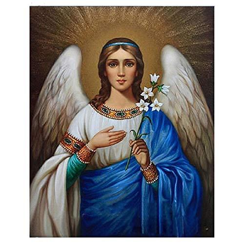 Diamante Pintura 5D Taladro Completo Religiosa Virgen María Kit De Mosaico De Punto De Cruz 3D Decoración Para El Hogar Regalo,20X30cm
