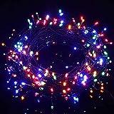 Avoalre Luz Navidad 40M 300 LED Guirnalda Luces Cadena de Luces 8 Modos 4 Colores Impermeable IP44 con Pilas para Exterior Interior Fiesta Boda Jardín Casa, Rojo/Amarillo/Azul/Verde