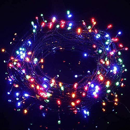 Avoalre Luci Natale con Batteria 300 LEDs 40M Catena Luminosa 8 Modalità 4 Colori Stringa Luci Impermeabile IP44 Luci Decorative per Interno Esterno Festa Nozze Compleanno, Rosso/Giallo/Blu/Verd