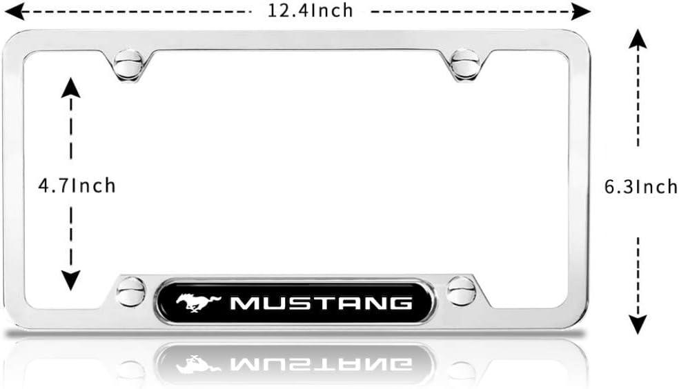 Chrome License Plate Frame,License Plate Frame for Ford,Ford Mustang Gifts,License Plate Frame Chrome Nightingale Villa License Plate Frame for Mustang Mustang Accessories Ford Mustang Accessories