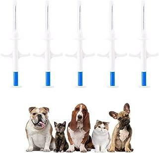 DDZ 5 Pack Pet Microchip, 134.2kHz ISO11784/ISO11784/FDX-B Pet ID Tags, 15 Bit RFID Microchip Dog for Animal/Pet/Dog/Cat/Pig 1.25 X 7mm