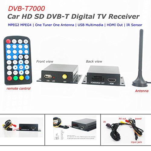 Kunfine 12–24 V de voiture DVB-T récepteur Box HDTV One Tuner MPEG2 MPEG4
