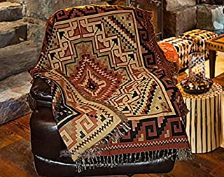 Mision Del Rey Southwestern Accent Throw 50x60 -Navajo Rust
