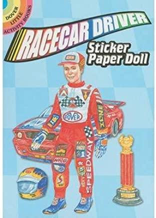 [( Racecar Driver Sticker Paper Doll )] [by: Steven James Petruccio] [Feb-2011]