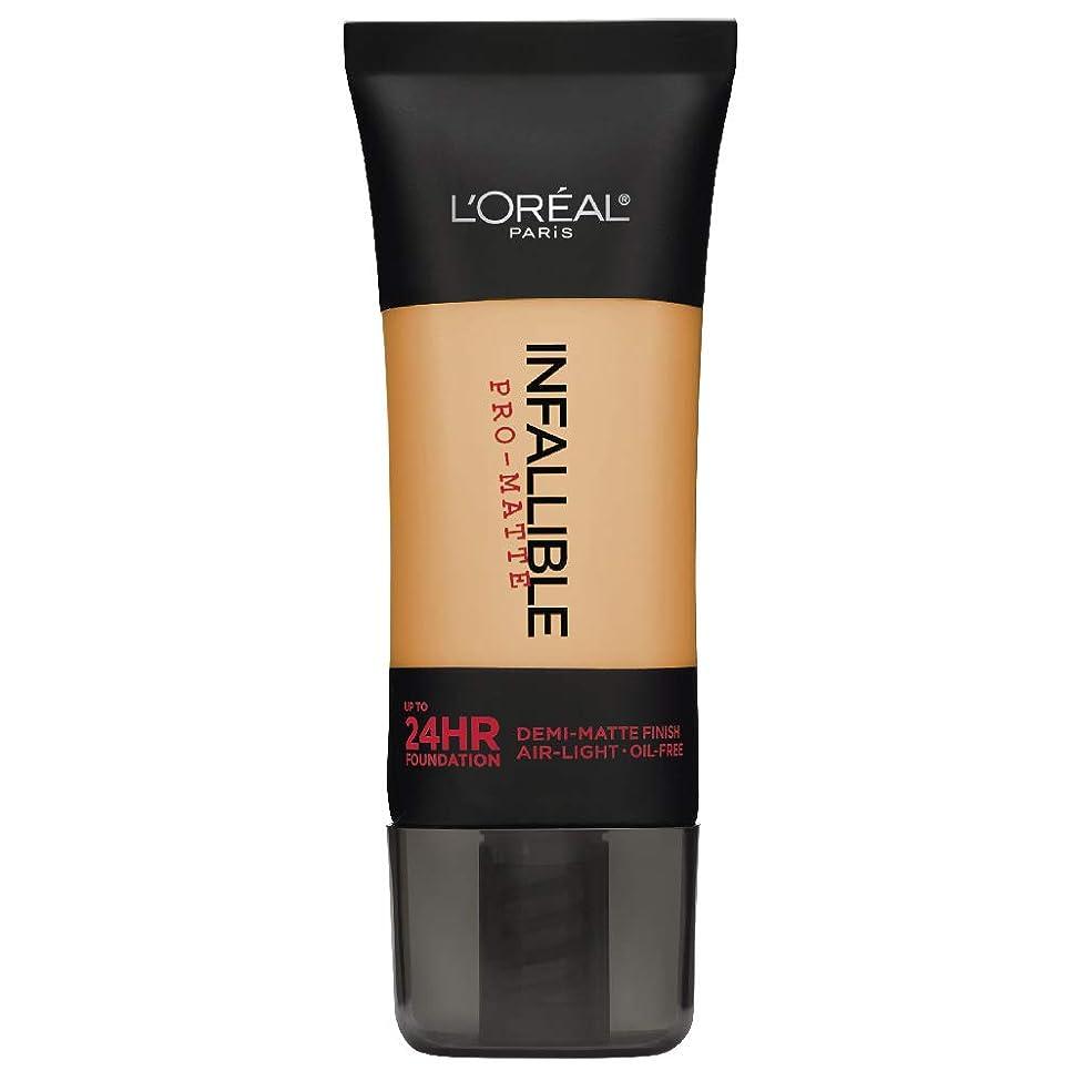 政治裕福なほこりL'Oreal Paris Infallible Pro-Matte Foundation Makeup, 105 Natural Beige, 1 fl. oz[並行輸入品]