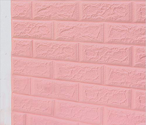 3d Brick Wallpaper, Removable Soundproofing Stick Foam Wall Sticker For Living Room Kitchen Bedroom Home Office 27.5 * 30.3in/70 * 77cm (5 Pieces Brick) , Self Adhesive Brick Wallpaper 3d Effect