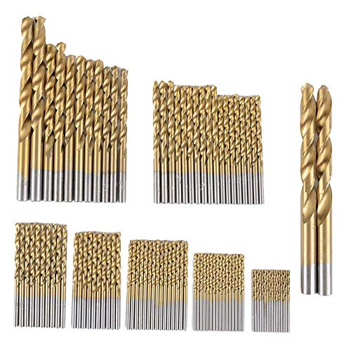 YEESEU durable Professional Tool Titanium Drill Bit Set 99Pcs Bits in Metal Storage Case Industrial tools