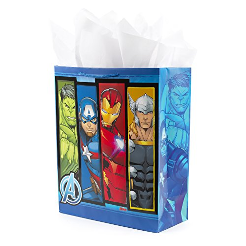 Hallmark 15' Extra Large Avengers Gift Bag with Tissue Paper...