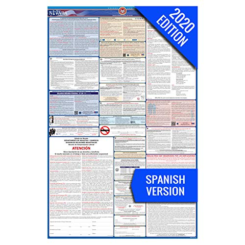 2017 Nevada (Spanish) Labor Law Poster – State & Federal Compliant – Laminated
