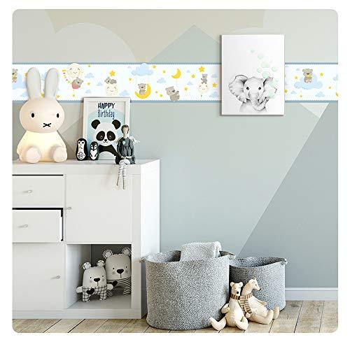 setecientosgramos Cenefa Auto-Adhesiva   Decoración de Pared Infantil, 5 m x 15 cm   Bear