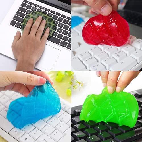Aiiwqk Keyboard Universal Dust Gel Magic Glue Súper Pegamento, Utilizado en los Orificios de ventilación del Auto del Teclado del Ordenador portátil, Ventiladores, calculadora