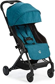 Contours Bitsy Compact Fold Lightweight Stroller for Travel, Airplane Friendly, Adapter-Free Car Seat Compatibility, Bermuda Teal