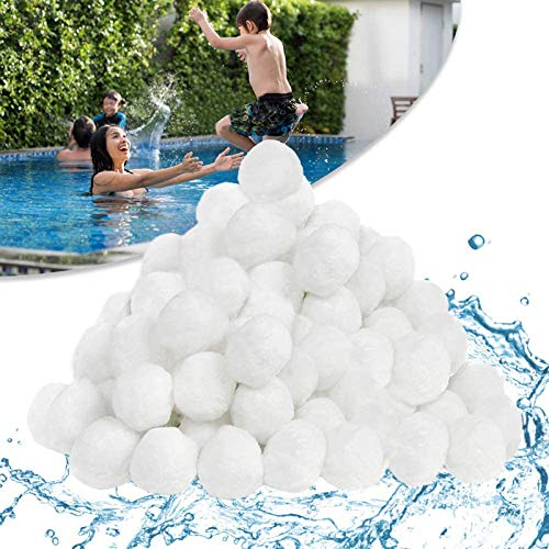 HENGMEI Filter Balls 700g Filtermaterial Polysphere Filterbälle Poolfilter ersetzen 25 kg Filtersand für Pool Sandfilter (700g)