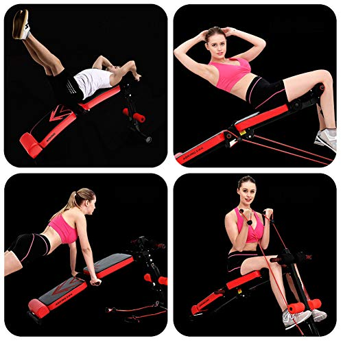 Product Image 4: Utility Core Abdominal Trainers With Headrest,Multifunctional Portable Weight Bench For Full Body,Foldable Adjustable Ab Bench A