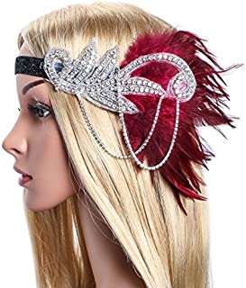 Art Deco Inspired Gatsby Crystal Flapper Headband 1920s Headpiece Vintage Wedding Accessories