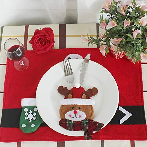 Boutique de Hanks Arts De La Table Haut De Gamme De Style Visage Rond Décoration De Noël, Décoration De Noël Linge De Table Linge De Table De Noël Yoo
