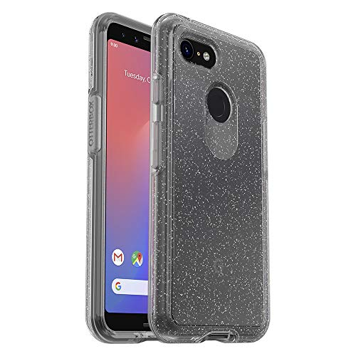 OtterBox Symmetry Clear Series Case for Google Pixel 3 - Retail Packaging - Stardust (Silver Flake/Clear)