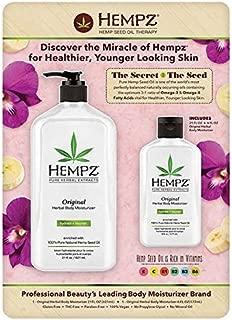 Hempz Original Herbal Body Moisturizer (21 Oz & Travel Size 6 Oz)
