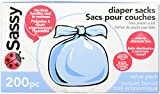 Sassy Baby Disposable Diaper Sacks, 200 Count,...