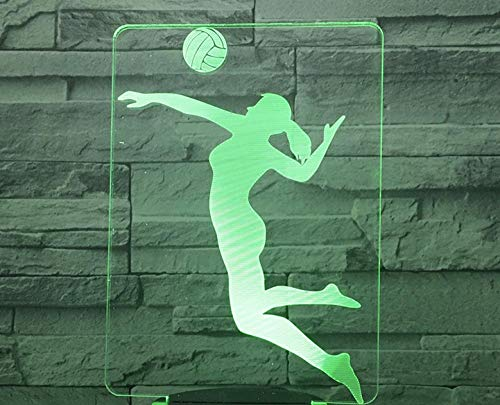 Touch black base night light para jugar voleibol 3D colorido touch night light USB night night light LED gift night lamp lámpara de mesilla atmósfera visual lámpara de mesa