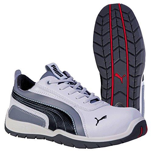Puma, Monaco Low 64.265.0 gemengde sportschoenen, 38 EU, wit (wit/grijs 100).