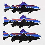 patagonia(パタゴニア) ステッカー フィッツロイ トラウト 3枚セット