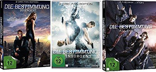 Die Bestimmung - Divergent + Insurgent + Allegiant (Deluxe Fan Edt.) im Set - Deutsche Originalware [6 DVDs]