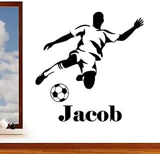 Nom personnalisé autocollant mural personnalisé football sports sticker mural pour chambre familiale salon garçon chambre ...