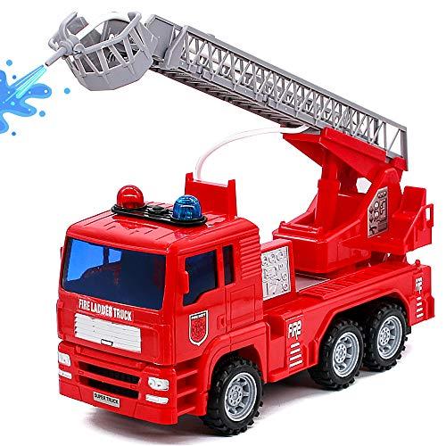 Camión de Bomberos Coches y Camiones de Juguete Modelos a Escala Vehículos de Juguete Niños Edad Recomendada a Partir de 3 años