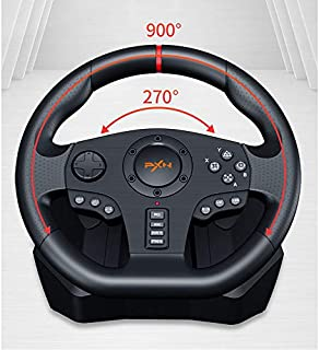 PC Racing Wheel, Universal USB Car Sim 270/900 Degree Race Steering Wheel with Pedals for PS4,PS3,PC,X360,Switch