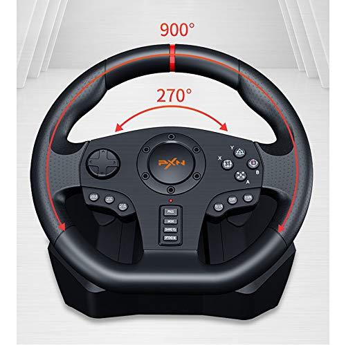 PC Racing Wheel, Voiture USB Universel degré Sim 270/900 Course Volant avec pédales pour PS4, PS3, PC, X360, Switch