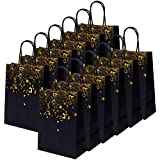 Cooraby 20 Pieces Paper Party Bags Bronzing Kraft Bag Hen Party Bags Bride Bag with Handle for Birthday Wedding Celebrations Party Favors