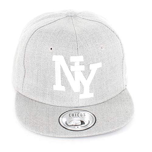 New Boy Girl NY New York süße Unisex Schwester Bruder Kindercap Hai Tiger Adler Prince Kinder Cap Snapback und Mütze 48-58cm Kopfumfang (One Size, JC-Kindercaps-NY-Gry-Gry-WHT)
