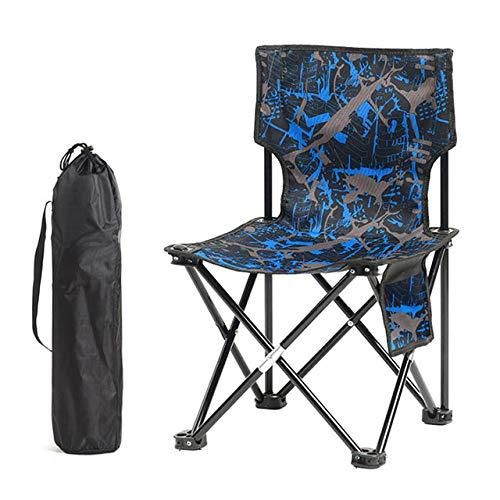 HSXQQL Klappstuhl Tragbare Klapp Angeln Stuhl Hocker für Outdoor Camping Wandern Picknick Reisen Ultraleicht Klappstuhl Hocker, Blau cm Stuhl