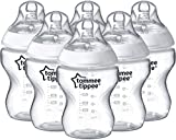 Tommee Tippee Closer to Nature - Biberón anticólico, 260 ml (pack de 6 unidad),422563