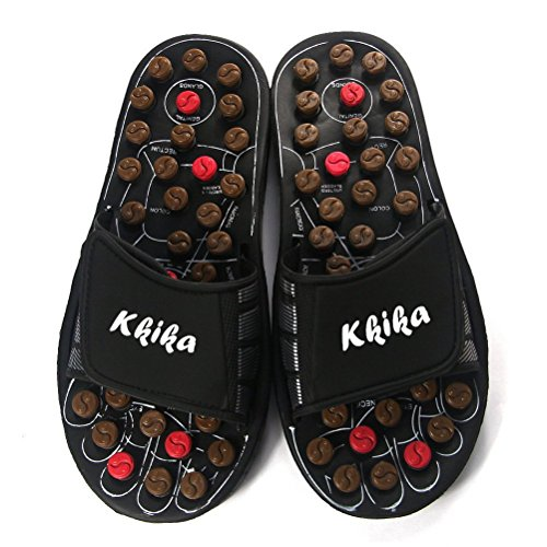 Kkika Rotating Accupressure Massage Men Shoes and Women Shoes Foot Massager Sandals for Man (6-7.5)/Women (6.5-8.5)